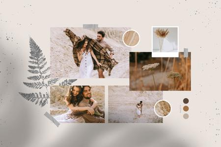 Plantilla de diseño de Happy couple on a Walk Mood Board
