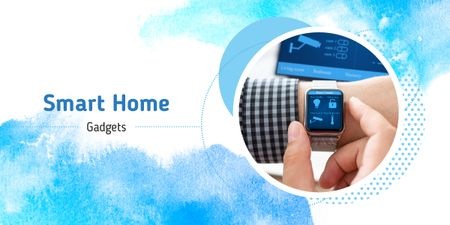Plantilla de diseño de Smart home app on watch Image