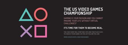 Ontwerpsjabloon van Tumblr van Video Games Championship announcement