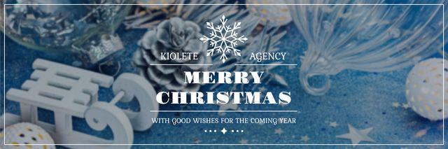Modèle de visuel Merry Christmas card - Twitter