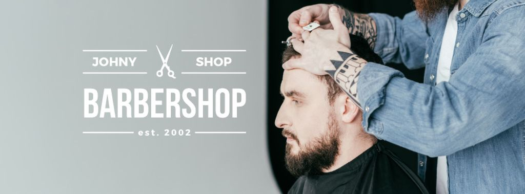 Hairstyles workshop ad with client at Barbershop —デザインを作成する