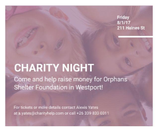 Plantilla de diseño de Corporate Charity Night Medium Rectangle