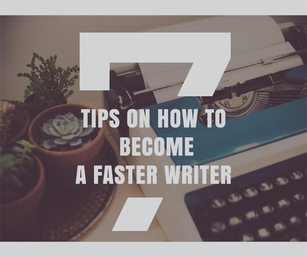 Tips to become faster writer — ein Design erstellen