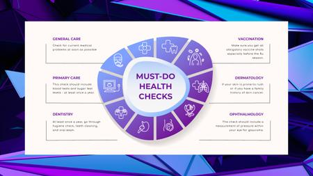 Template di design Health Checks list Mind Map