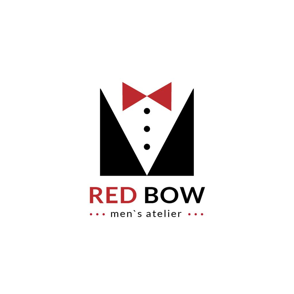 Fashion Atelier with Male Suit with Bow-Tie — Créer un visuel