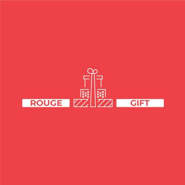 Stack of Gifts in Red | Logo Template