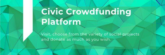 Civic Crowdfunding Platform Email header – шаблон для дизайна