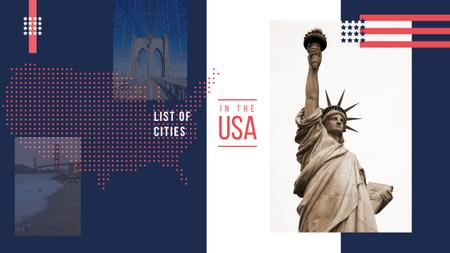 Plantilla de diseño de New York sightseeing spots Youtube
