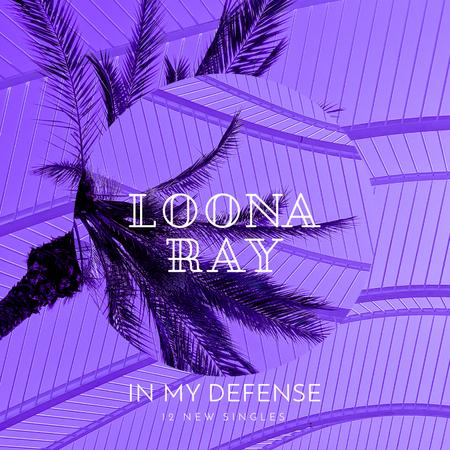 Modèle de visuel Palm tree in Purple - Album Cover