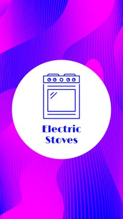 Appliances and Electronics store icons Instagram Highlight Cover Modelo de Design