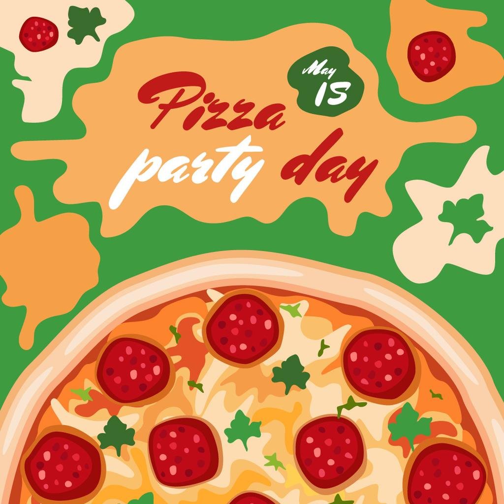 Pizza Party Day poster — Crear un diseño