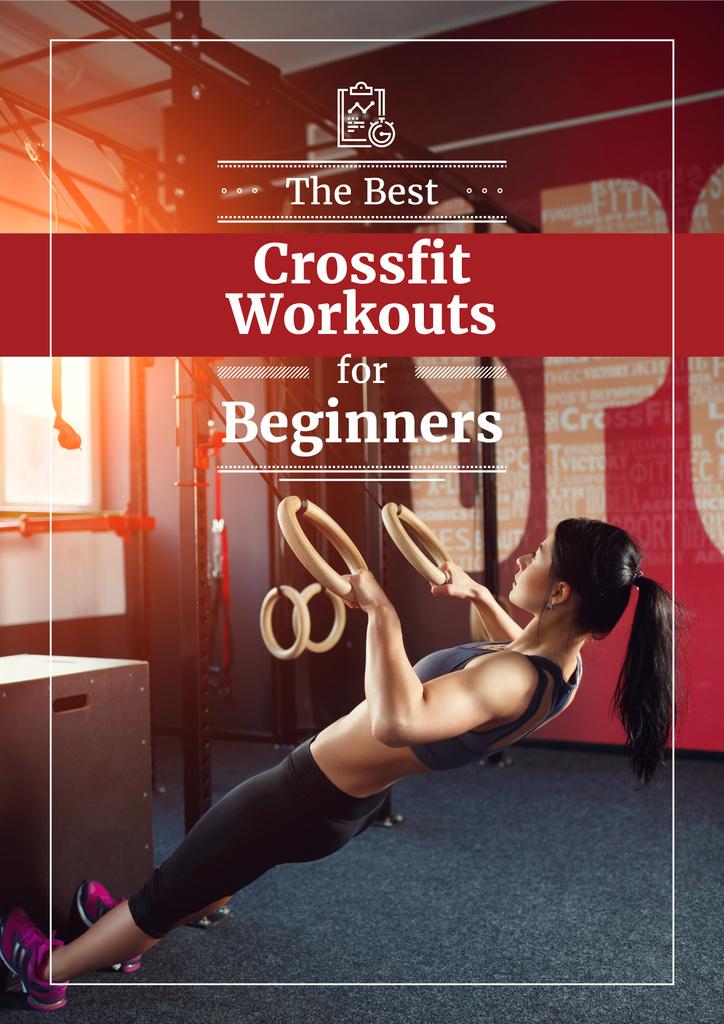 best fitness workouts for beginners poster — Modelo de projeto