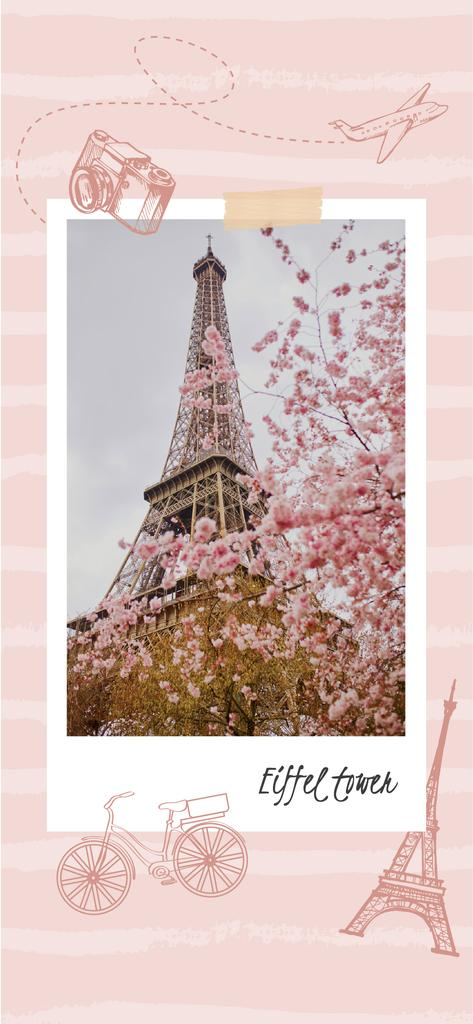 Paris Travelling Inspiration with Eiffel Tower —デザインを作成する
