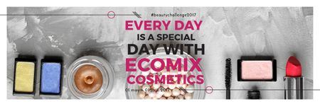Cosmetic products Set Offer Email header Modelo de Design