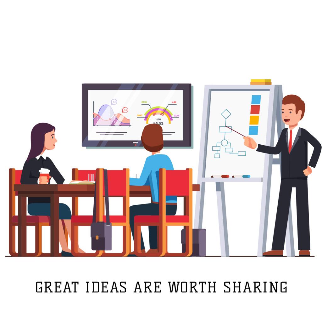 Businessman presenting report to his colleagues — Maak een ontwerp