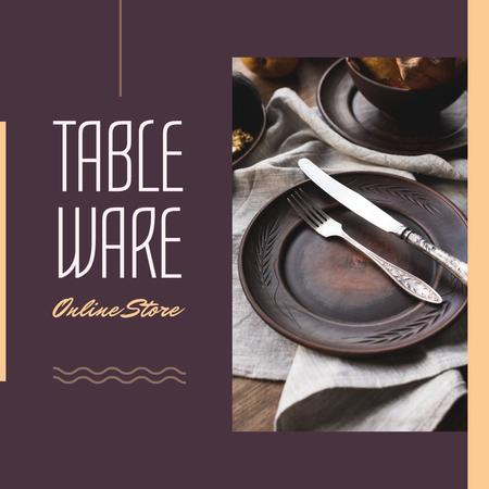 Online Store Offer with Ethnic Tableware Instagram AD – шаблон для дизайна