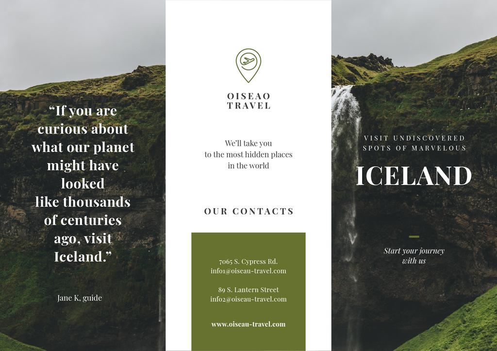 Iceland Tours Offer with Mountains and Horses — ein Design erstellen