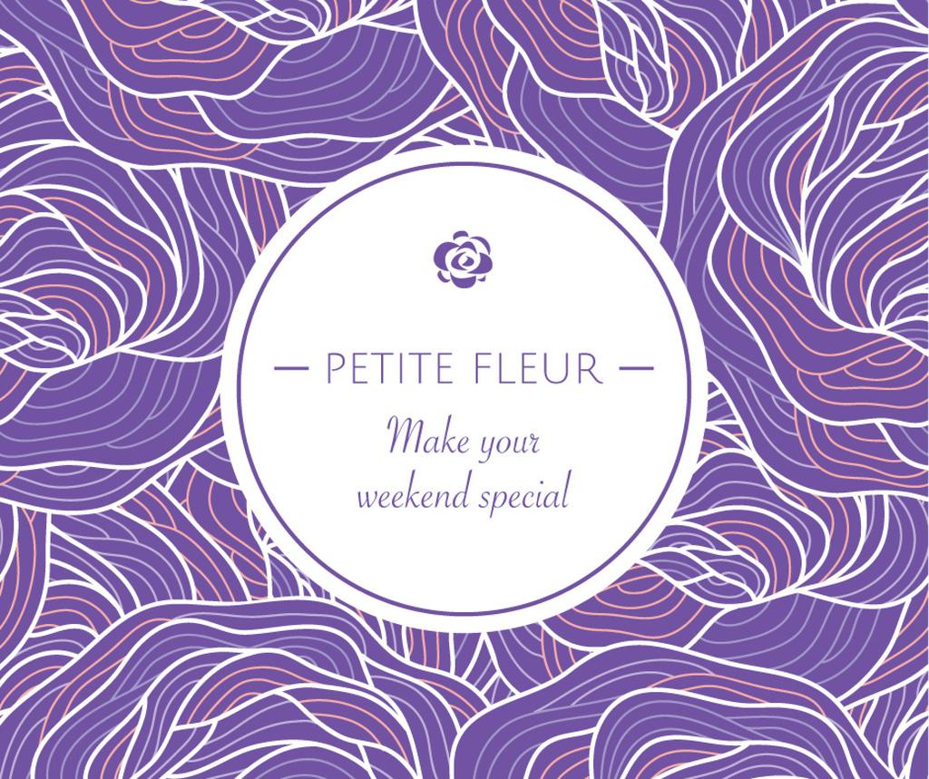 Petite fleur weekend card — Créer un visuel