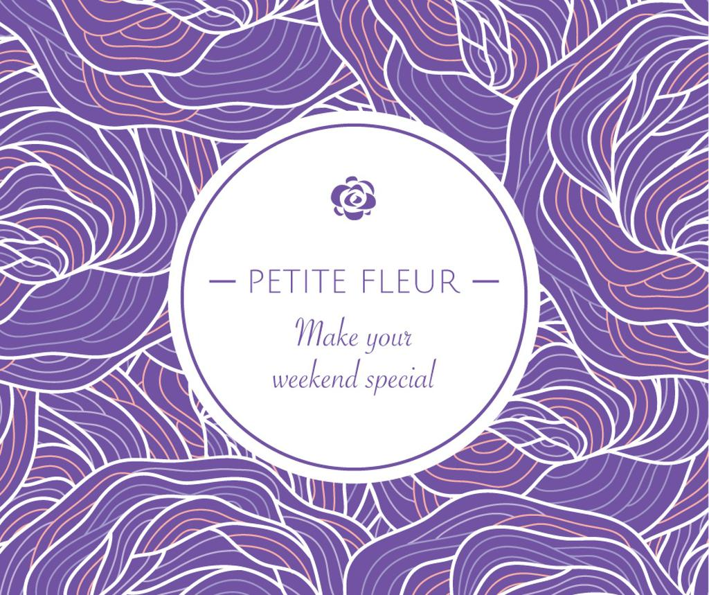 Promotion offer on purple Roses pattern — Создать дизайн