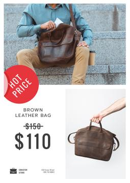 Bag Store Promotion with Man Carrying Briefcase