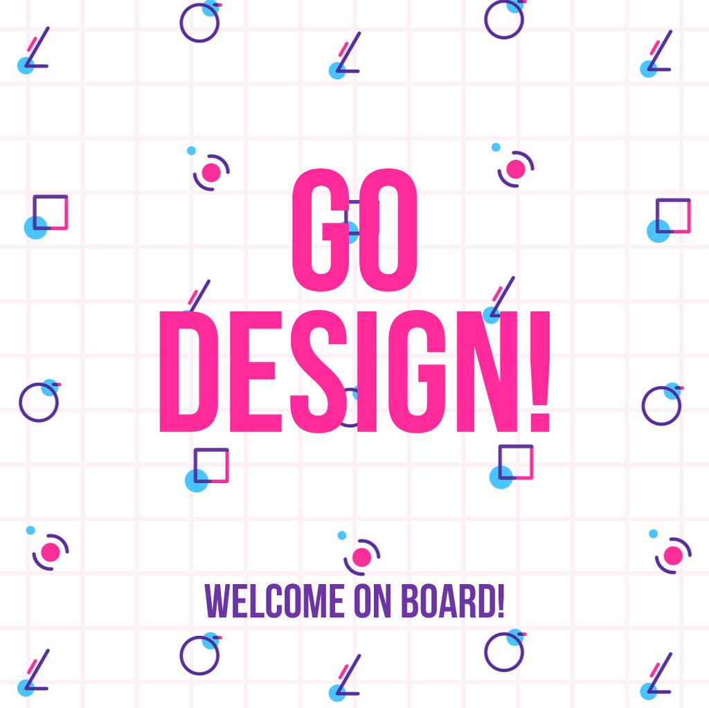 Design Courses Ad Moving Geometric Figures | Square Video Template — Maak een ontwerp