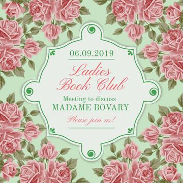Ladies Book Club Invitation