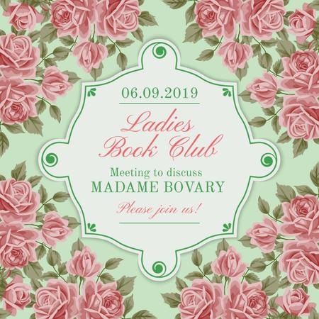 Ladies Book Club Invitation Instagram Modelo de Design