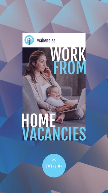 Freelancer Mother Working at Home with Baby Instagram Video Story Modelo de Design