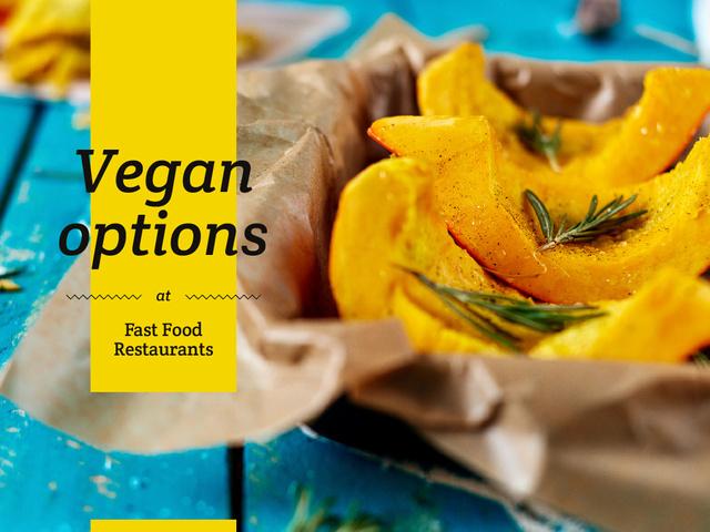Plantilla de diseño de Vegan options at Fast food restaurants Presentation