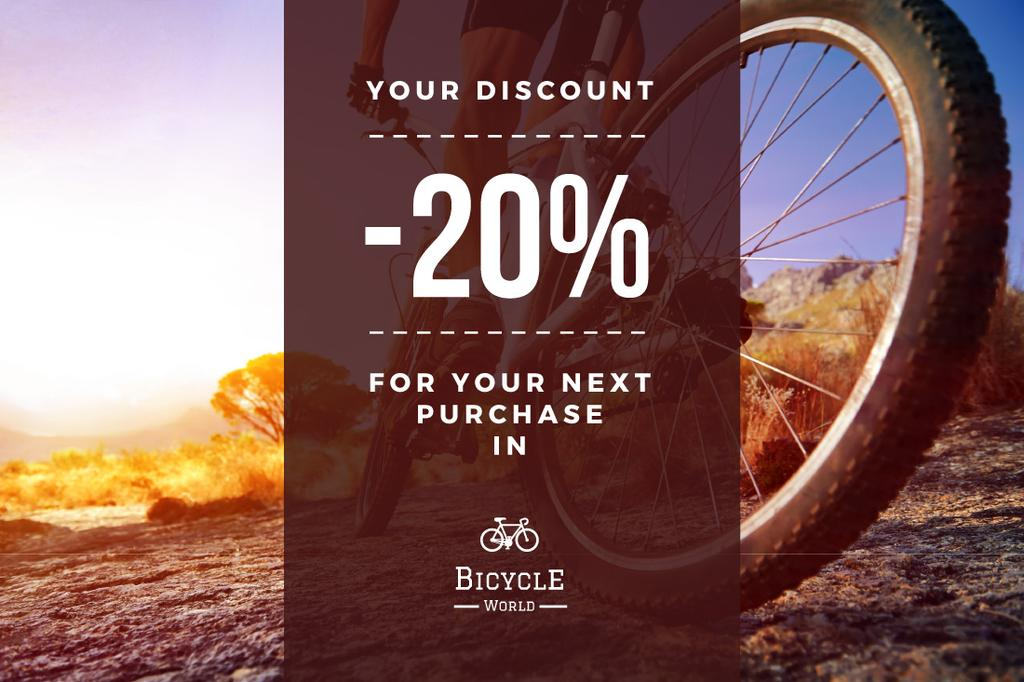 Discount voucher for bicycle store — Create a Design