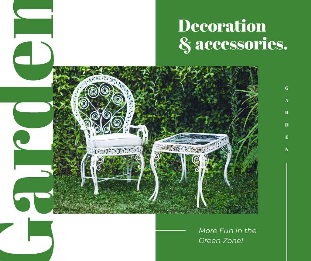 Elegant White garden Furniture — Crea un design