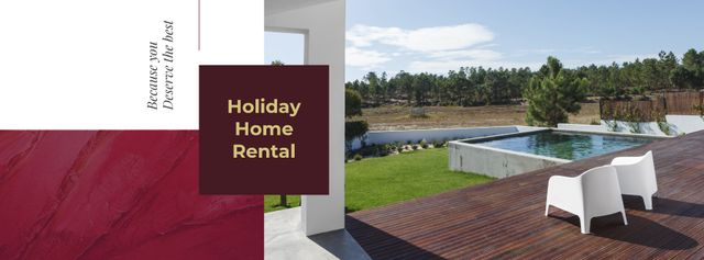 Plantilla de diseño de Real Estate Offer with Residential Modern House Facebook cover