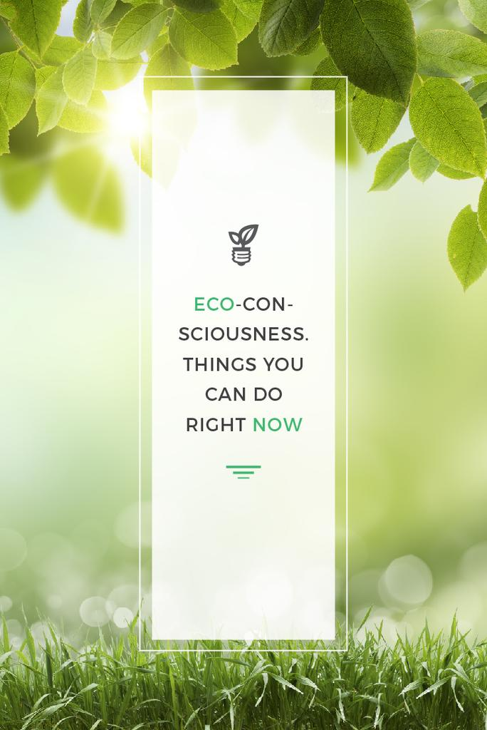 Eco Technologies Concept with Light Bulb and Leaves — Crea un design