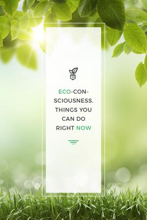 Template di design Eco Technologies Concept with Light Bulb and Leaves Pinterest