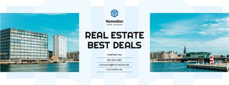 Real Estate Ad Modern City View Facebook cover – шаблон для дизайну