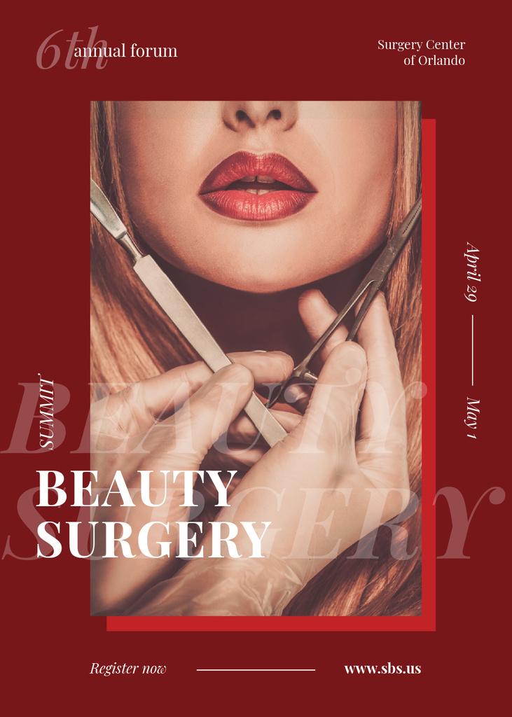 Woman at plastic Surgery clinic — Créer un visuel