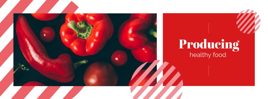 Red peppers and tomatoes Facebook cover Modelo de Design