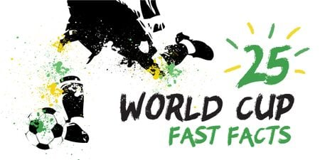 25 World cup fast facts Image Modelo de Design
