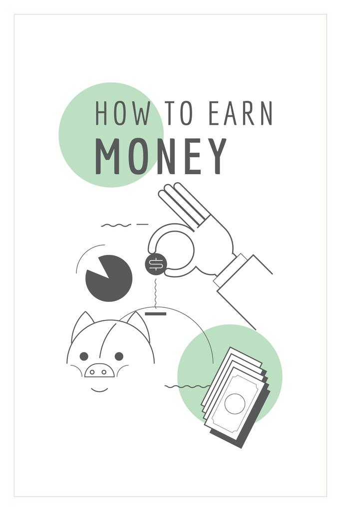 How to earn money poster — Создать дизайн