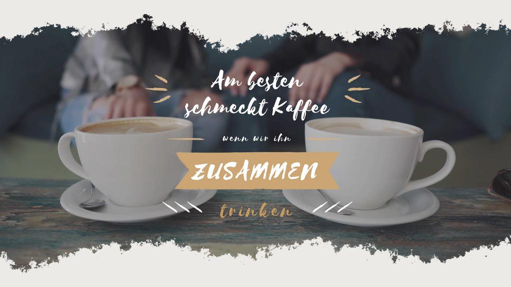 Cafeteria Advertisement with Hot Coffee Cups — Maak een ontwerp