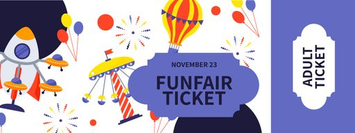 Fun Fair With Funny Carousels Tickets