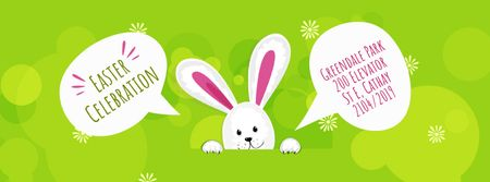 Modèle de visuel Cartoon Easter bunny - Facebook Video cover