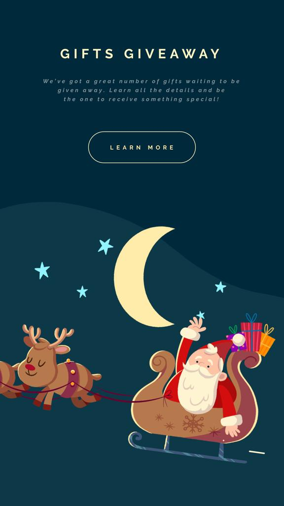 Santa riding in sleigh  — Design Template