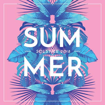 Plantilla de diseño de Summer solstice Announcement on Pink Instagram