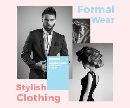Plantilla de diseño de Formal wear store Medium Rectangle