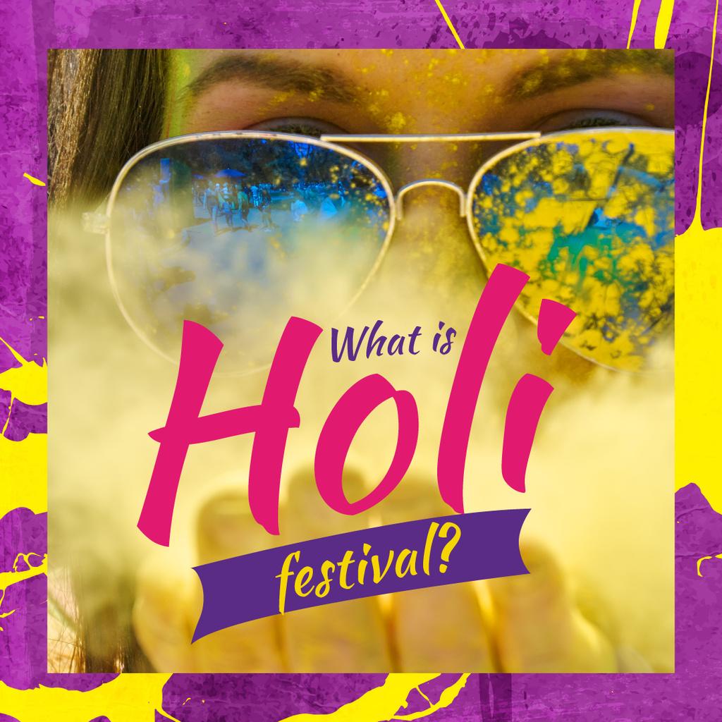 Indian Holi festival celebration — ein Design erstellen