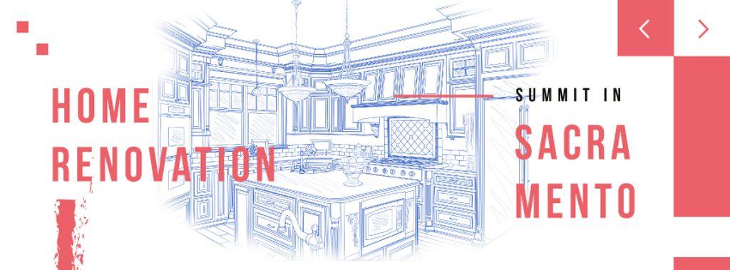 Home kitchen Interior illustration — Crea un design
