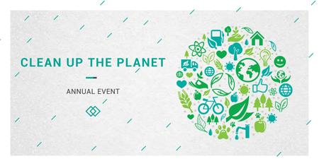 Designvorlage Clean up the planet annual event für Facebook AD