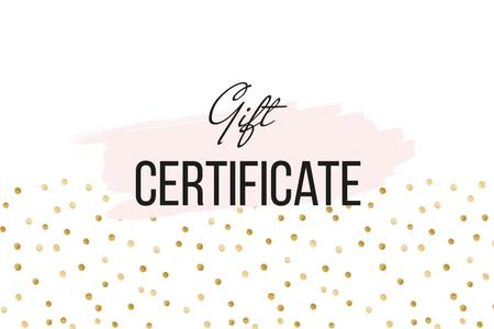 Plantilla de diseño de Cosmetics Offer on golden glitter Gift Certificate