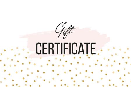 Template di design Cosmetics Offer on golden glitter Gift Certificate